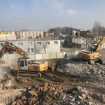 """Rozbiórka budynku typu """"LIPSK"""" oraz stołówki w Dąbrowie Górniczej"""