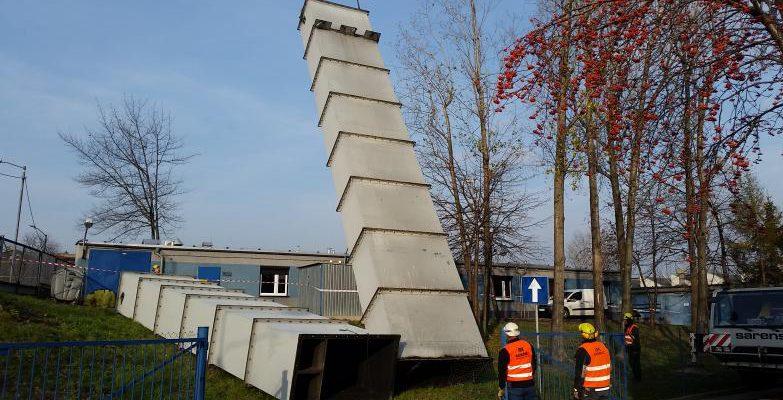 Demontaż komina stalowego w Katowicach